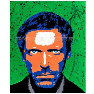 NWT House Hugh Laurie Popart PRINT Celebrity Decor